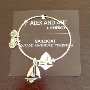 Alex and Ani Sailboat Expandable Wire Bracelet